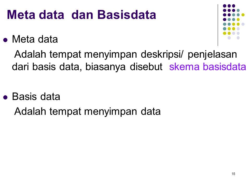 Meta data dan Basisdata