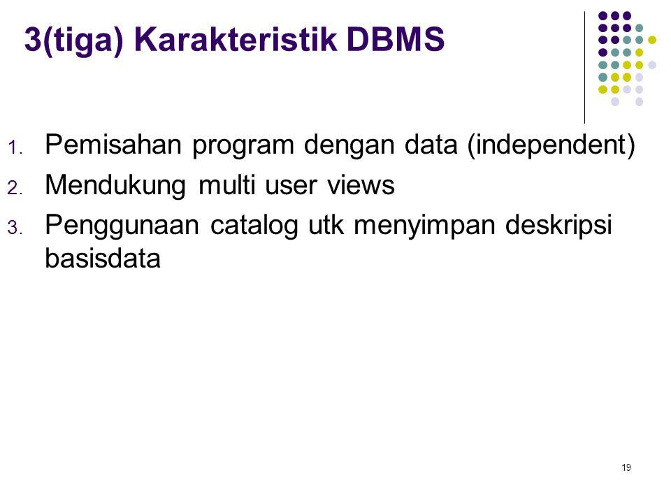 3(tiga) Karakteristik DBMS