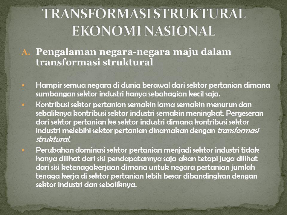 TRANSFORMASI STRUKTURAL EKONOMI NASIONAL