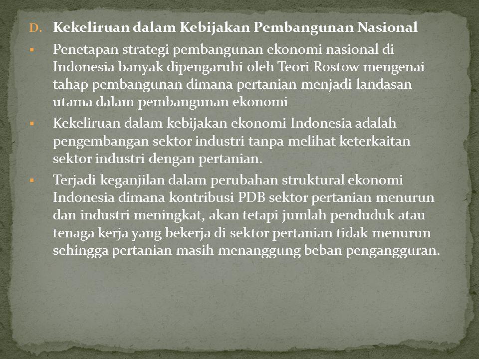 Kekeliruan dalam Kebijakan Pembangunan Nasional