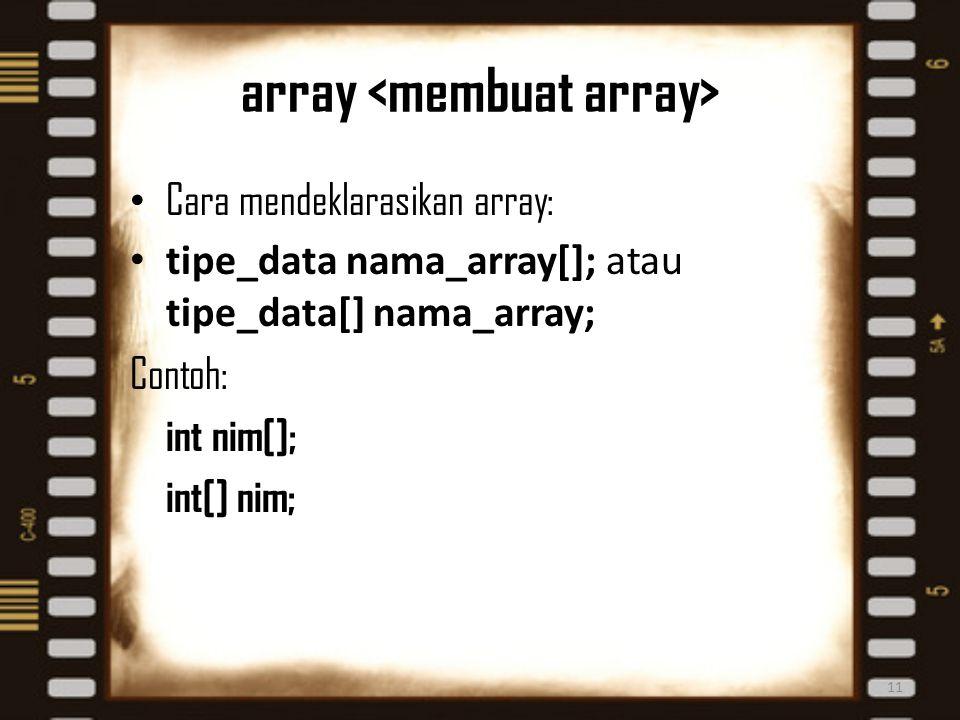 array <membuat array>