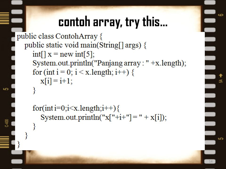 contoh array, try this…