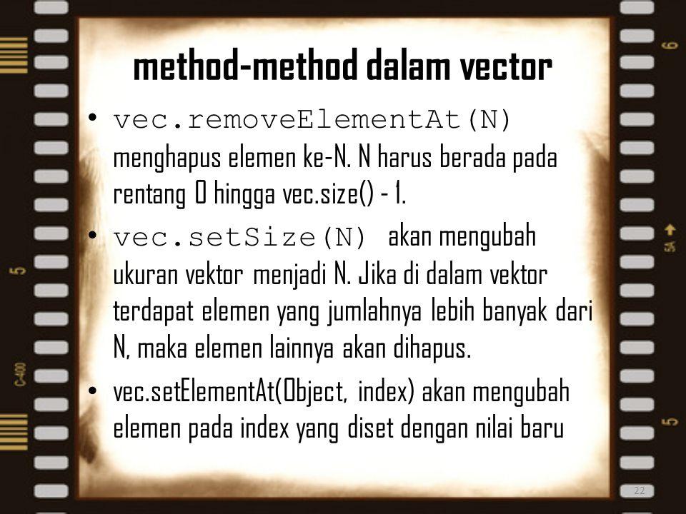 method-method dalam vector