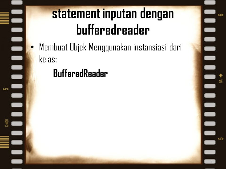 statement inputan dengan bufferedreader