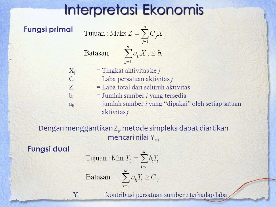 Interpretasi Ekonomis