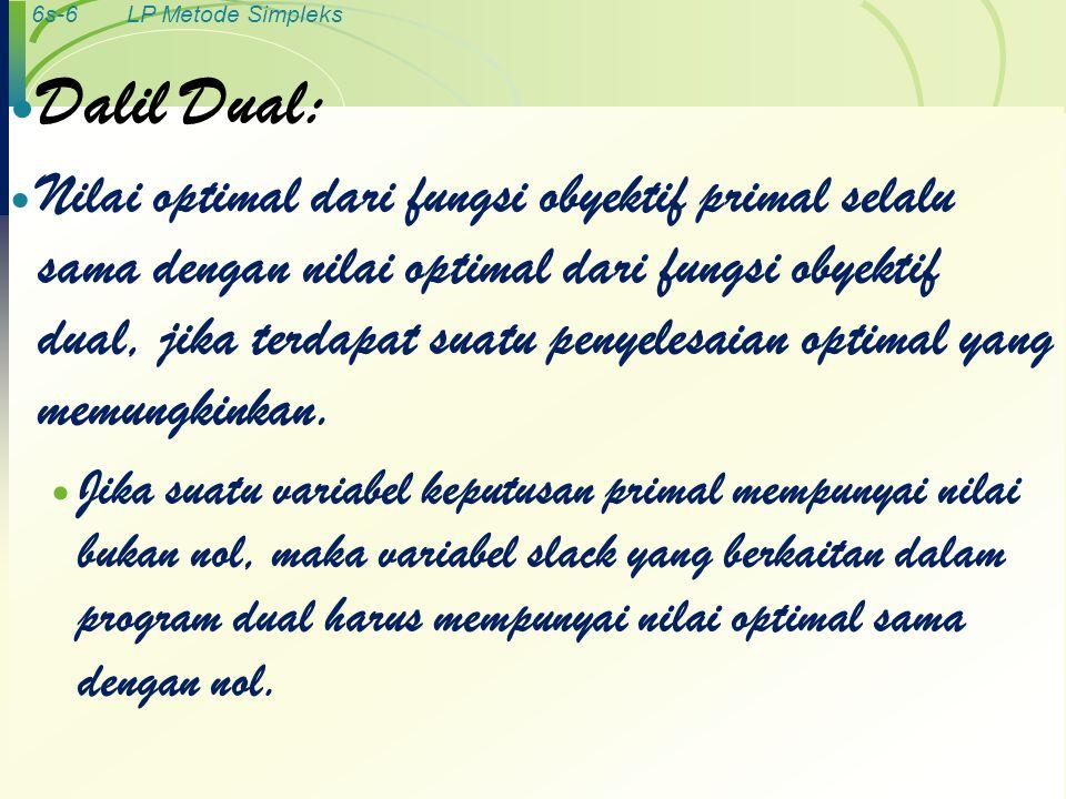Dalil Dual: