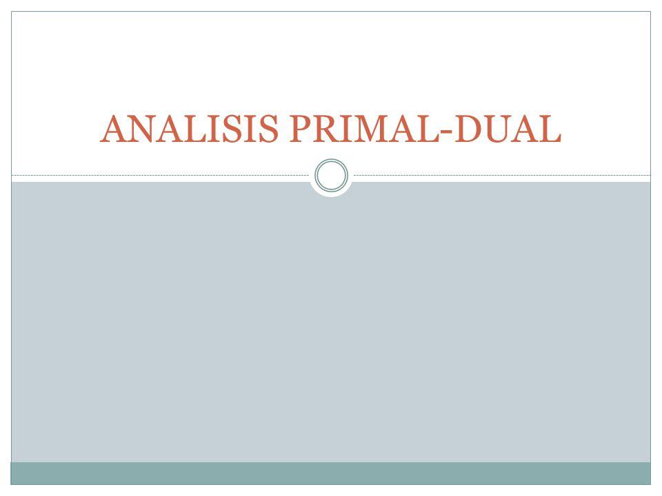 ANALISIS PRIMAL-DUAL