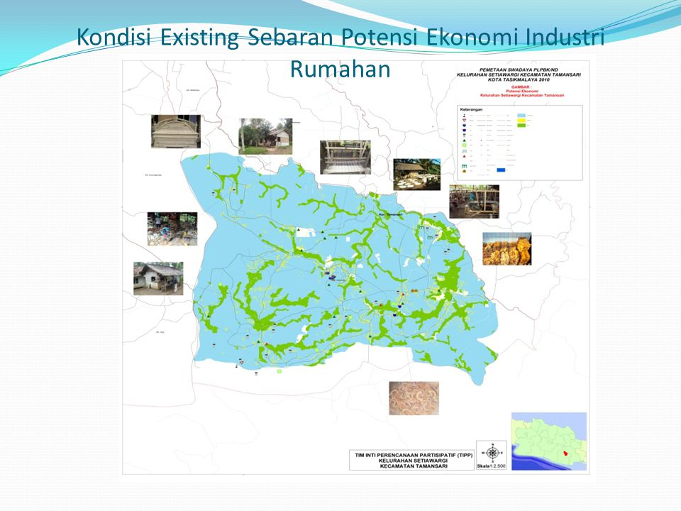 Kondisi Existing Sebaran Potensi Ekonomi Industri Rumahan