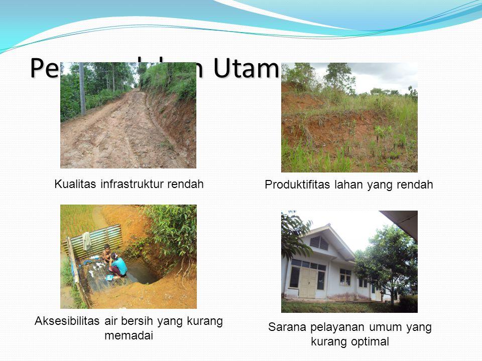 Permasalahan Utama Kualitas infrastruktur rendah