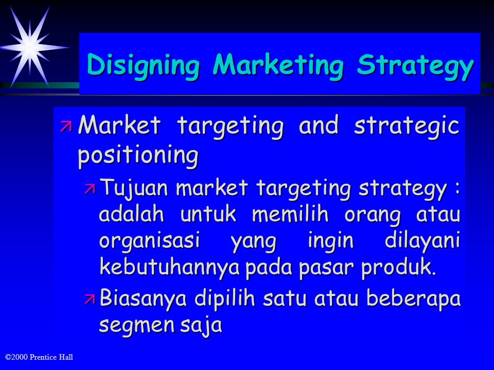 Disigning Marketing Strategy