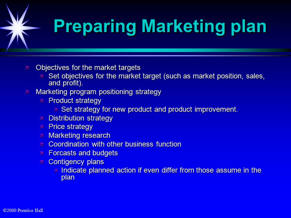 Preparing Marketing plan