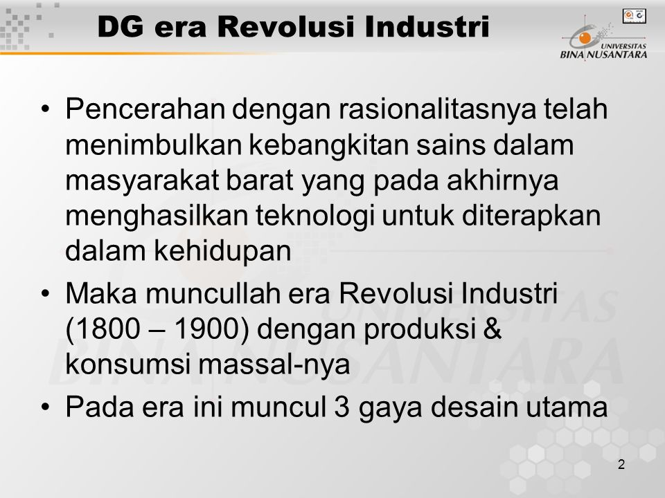 DG era Revolusi Industri