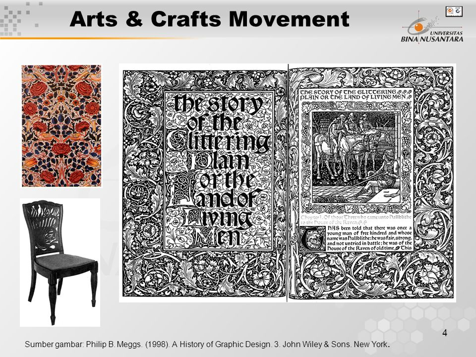 Arts & Crafts Movement Sumber gambar: Philip B. Meggs.