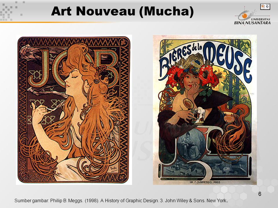 Art Nouveau (Mucha) Sumber gambar: Philip B. Meggs.