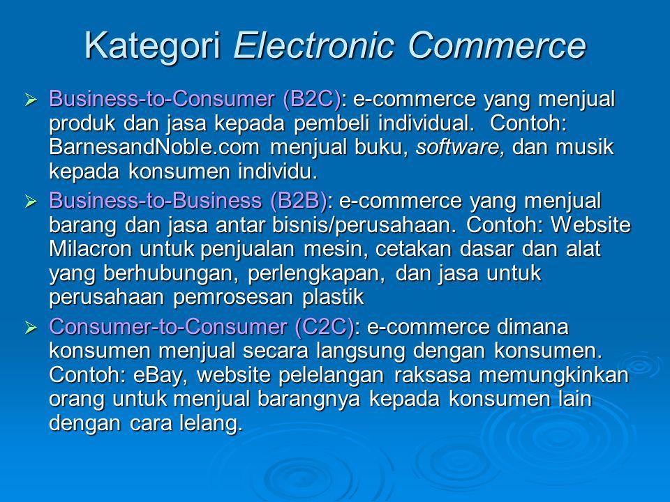 Kategori Electronic Commerce