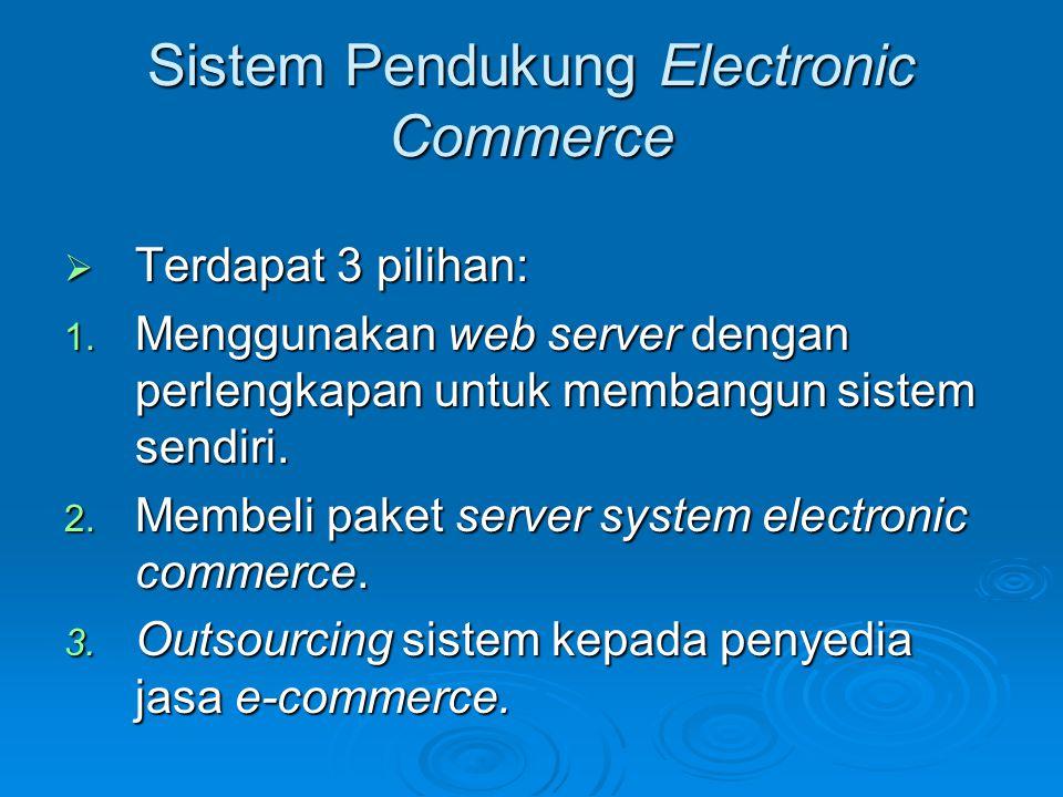 Sistem Pendukung Electronic Commerce