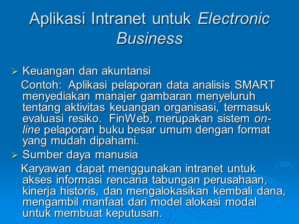 Aplikasi Intranet untuk Electronic Business