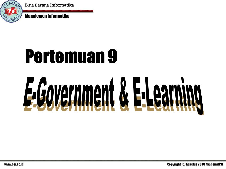 E-Government & E-Learning