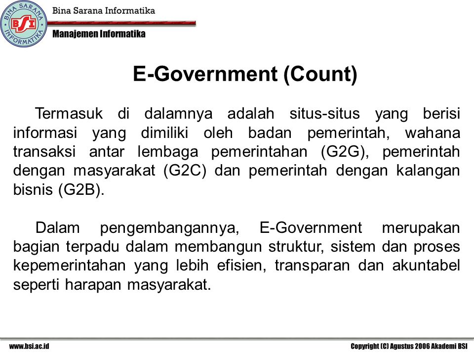 E-Government (Count)