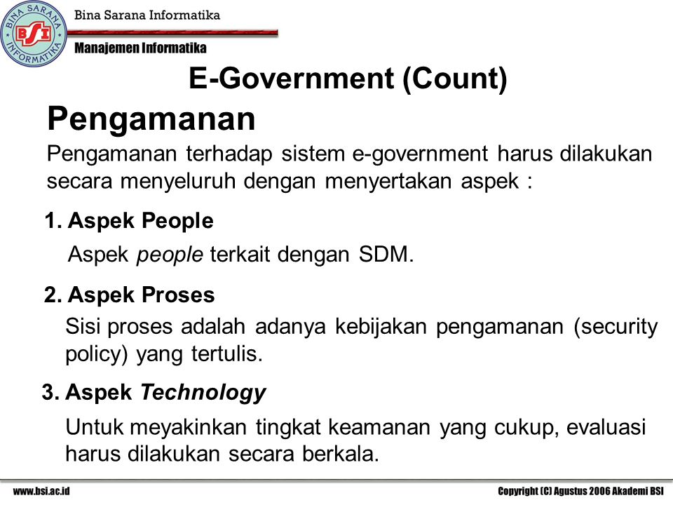 Pengamanan E-Government (Count)