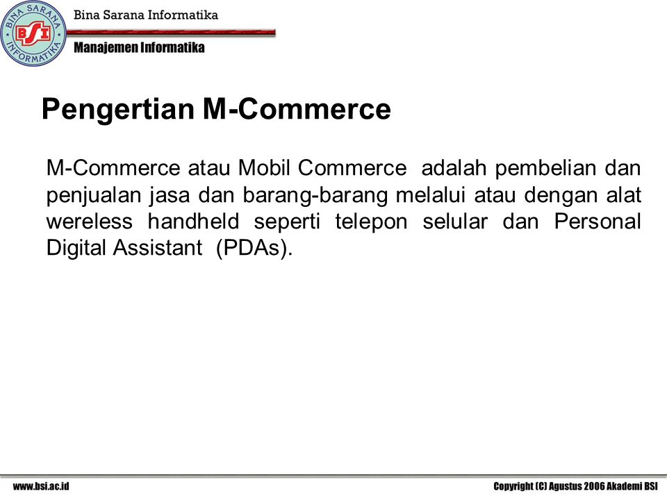 Pengertian M-Commerce
