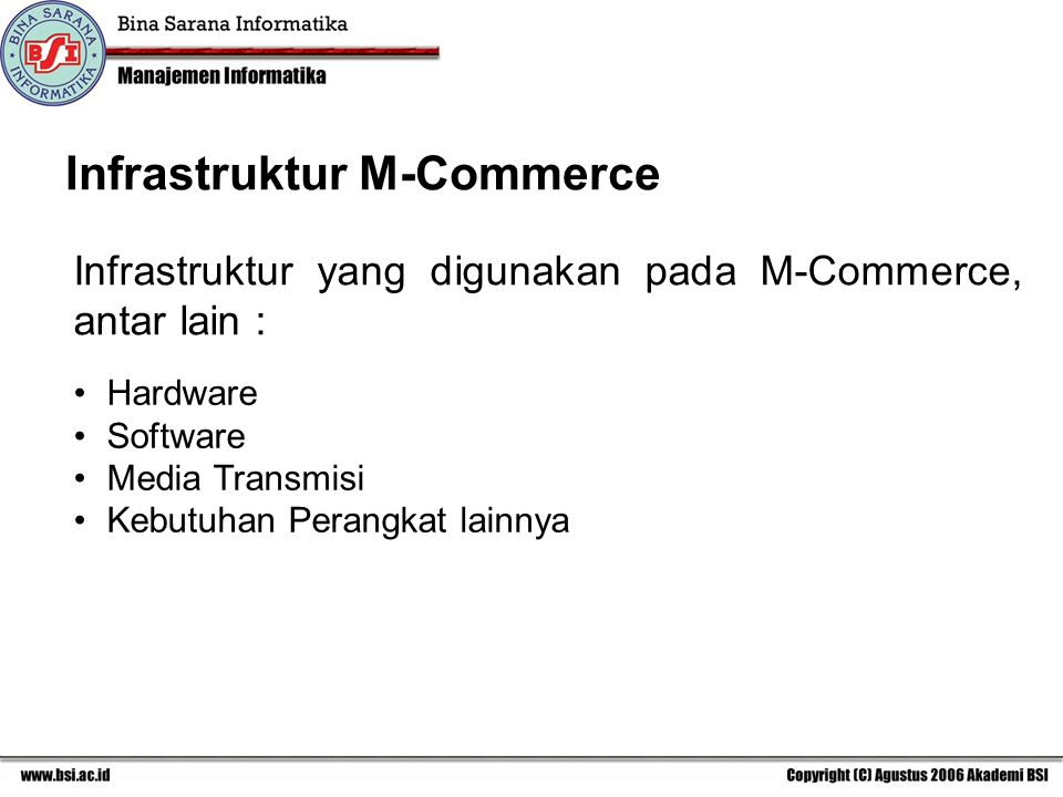 Infrastruktur M-Commerce