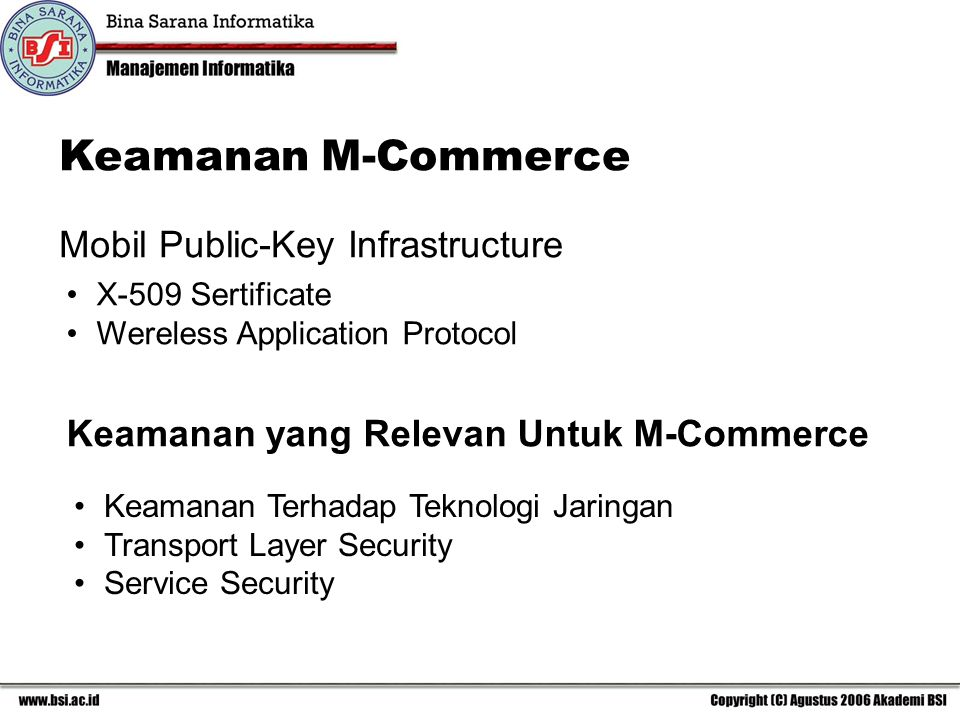 Keamanan M-Commerce Mobil Public-Key Infrastructure