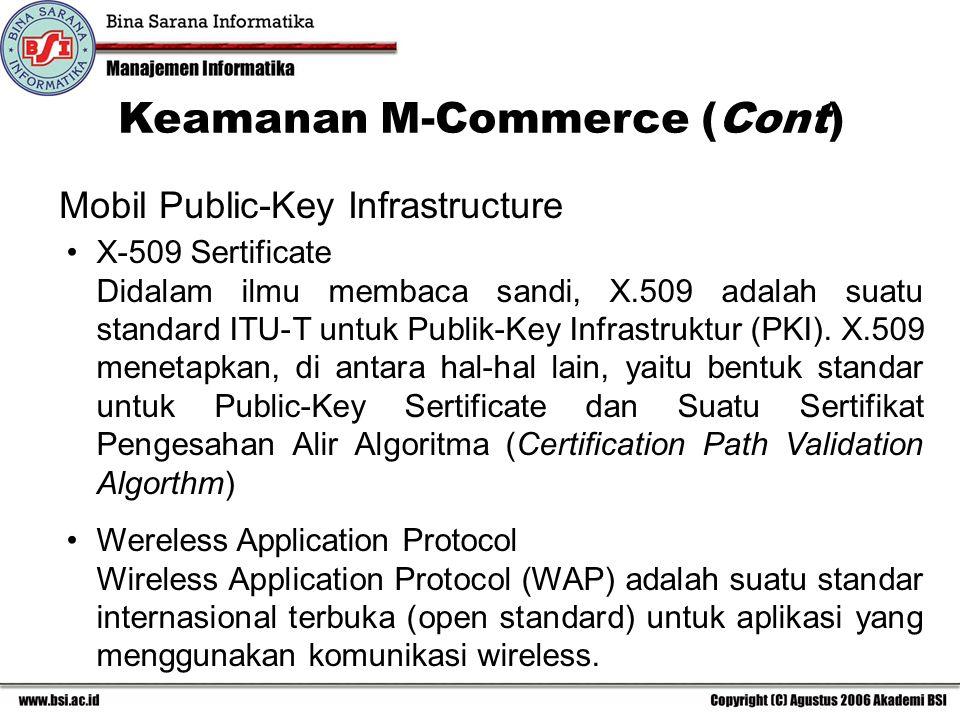 Keamanan M-Commerce (Cont)