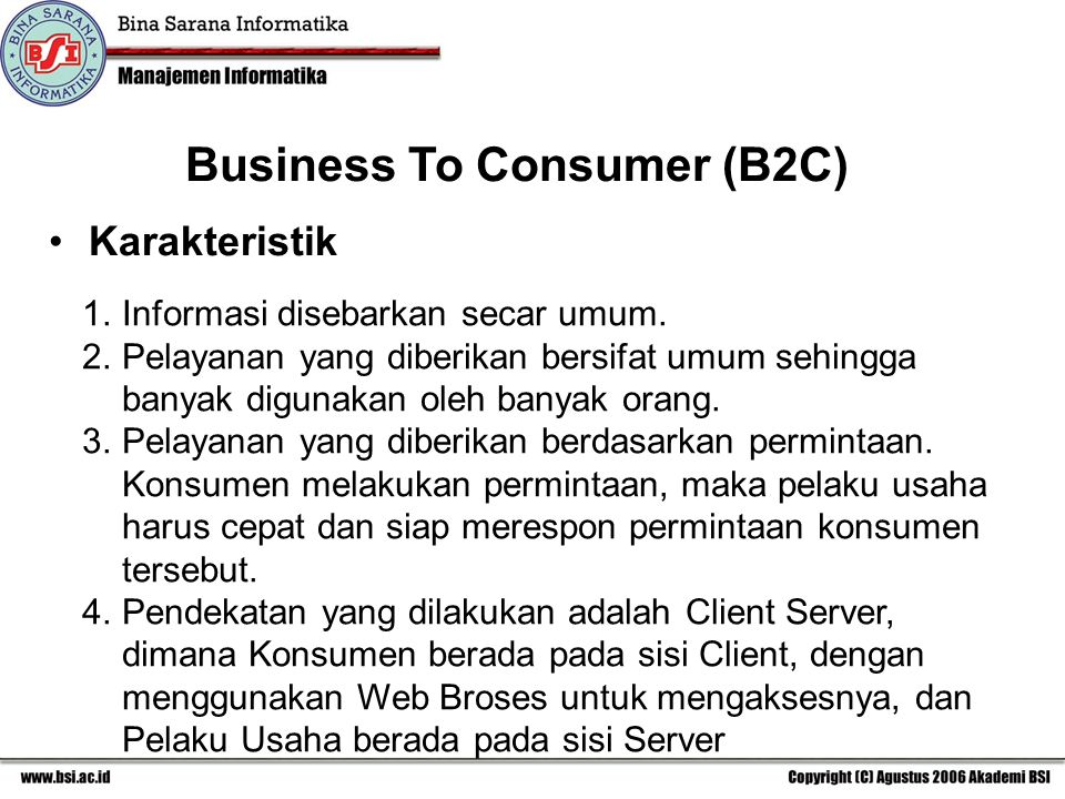 Business To Consumer (B2C)