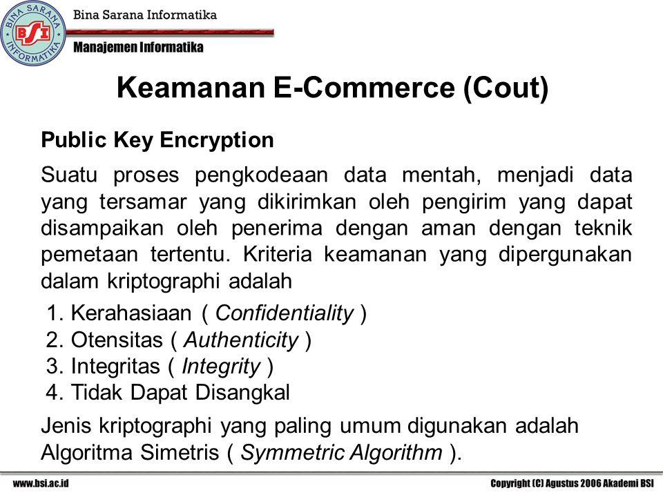 Keamanan E-Commerce (Cout)