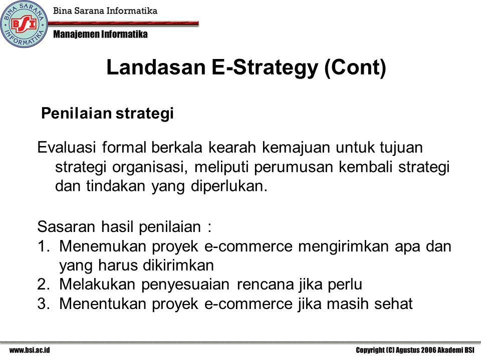 Landasan E-Strategy (Cont)