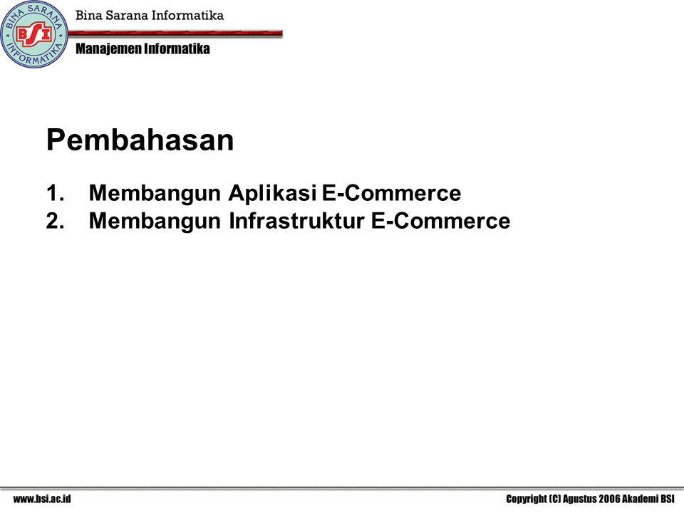 Pembahasan Membangun Aplikasi E-Commerce