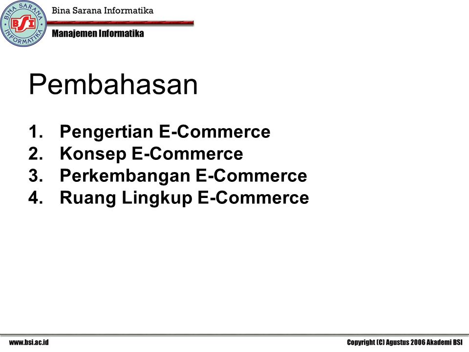 Pembahasan Pengertian E-Commerce Konsep E-Commerce