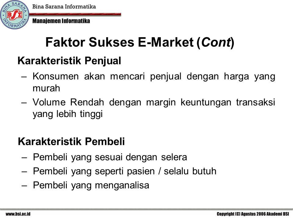 Faktor Sukses E-Market (Cont)