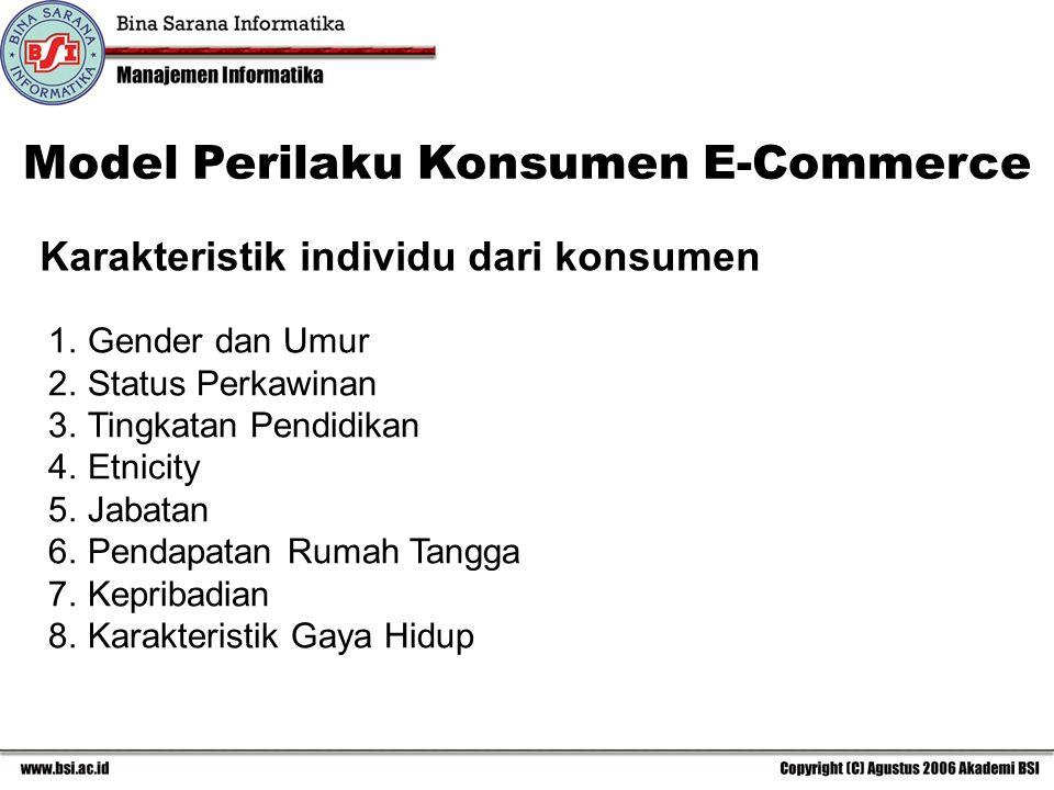 Karakteristik individu dari konsumen