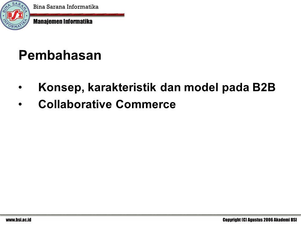 Pembahasan Konsep, karakteristik dan model pada B2B
