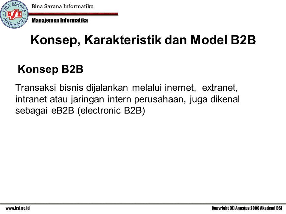 Konsep, Karakteristik dan Model B2B