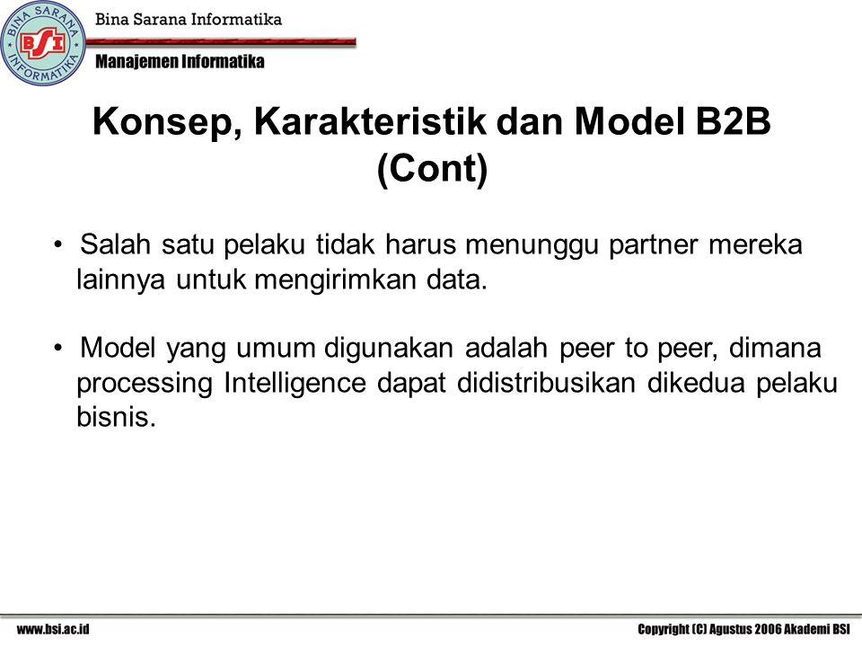 Konsep, Karakteristik dan Model B2B (Cont)