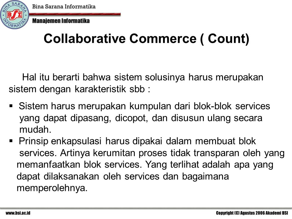 Collaborative Commerce ( Count)