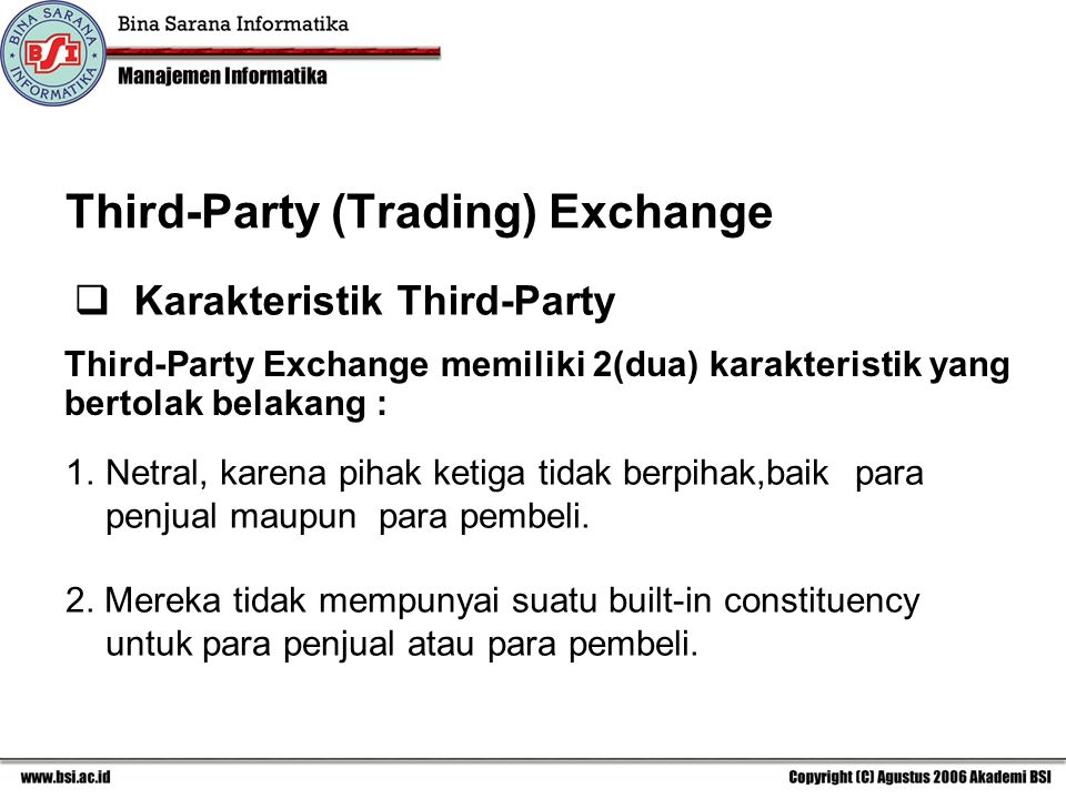Third-Party (Trading) Exchange