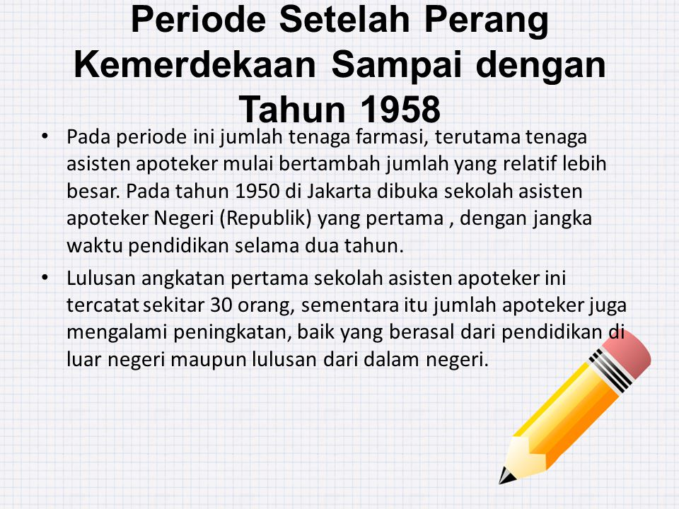 Periode Setelah Perang Kemerdekaan Sampai dengan Tahun 1958