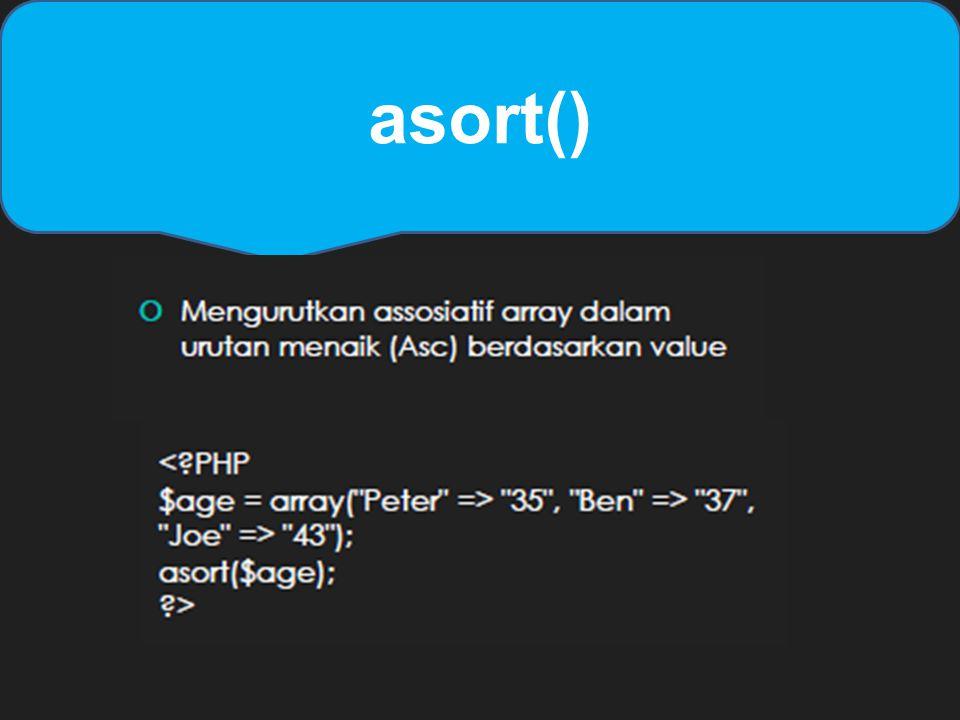 asort()