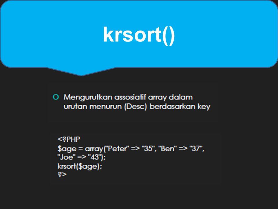 krsort()