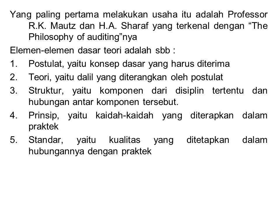 Yang paling pertama melakukan usaha itu adalah Professor R. K