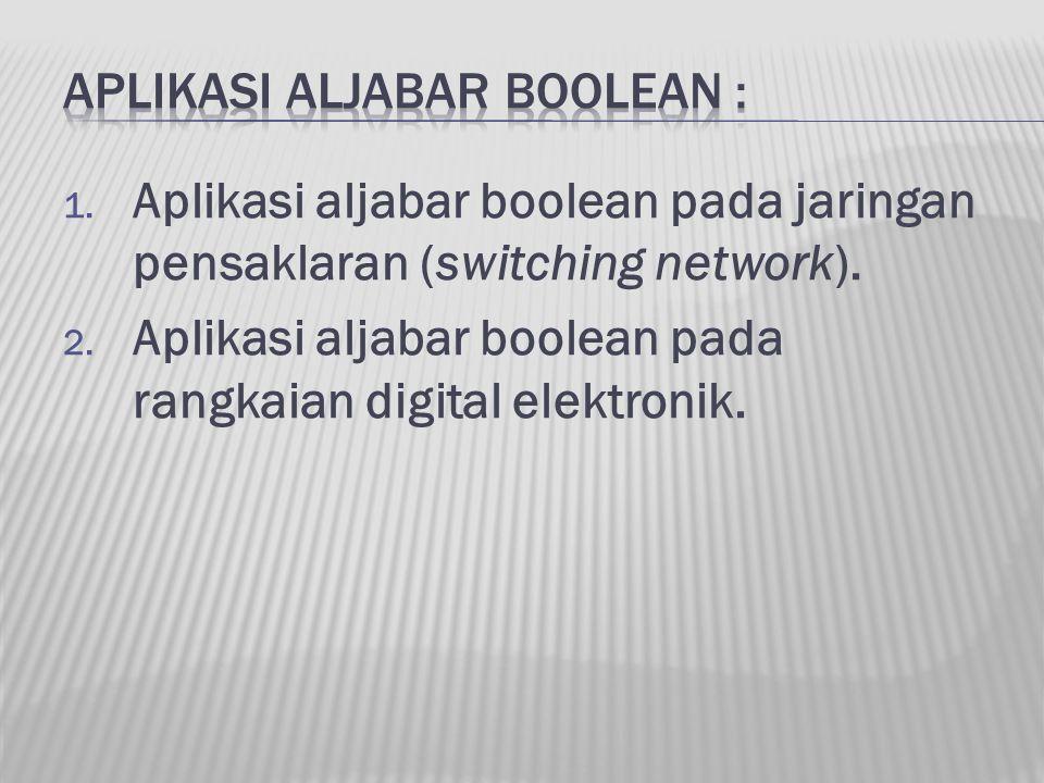 APLIKASI ALJABAR BOOLEAN :