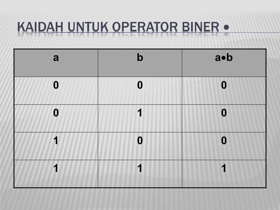 Kaidah untuk operator biner 