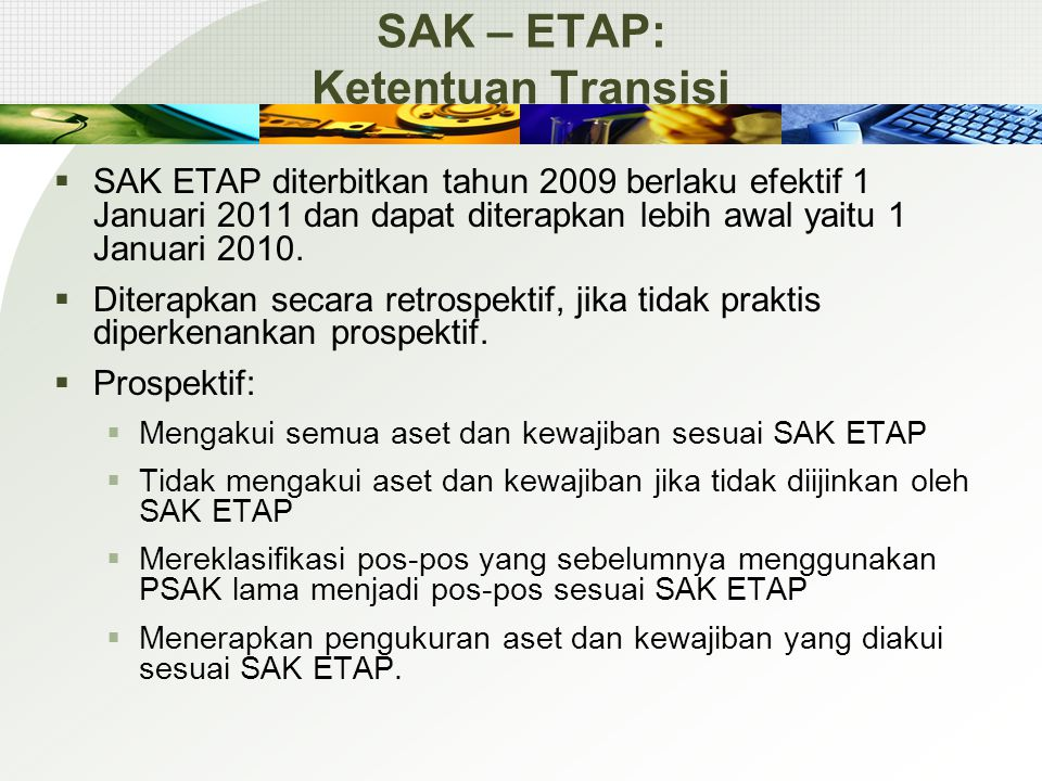SAK – ETAP: Ketentuan Transisi