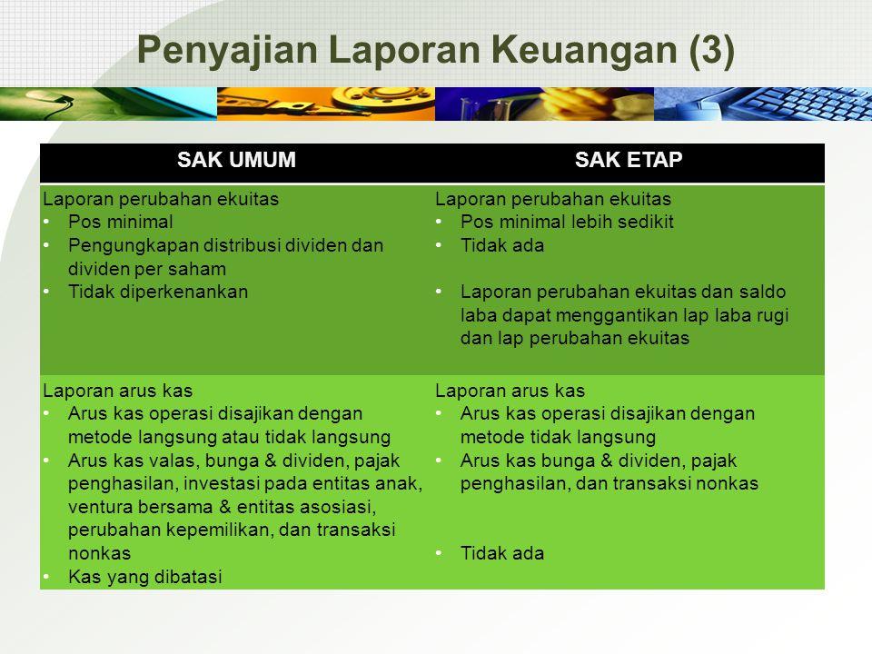 Penyajian Laporan Keuangan (3)