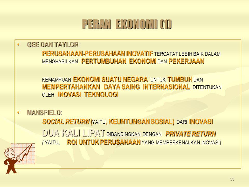 PERAN EKONOMI (1) GEE DAN TAYLOR :