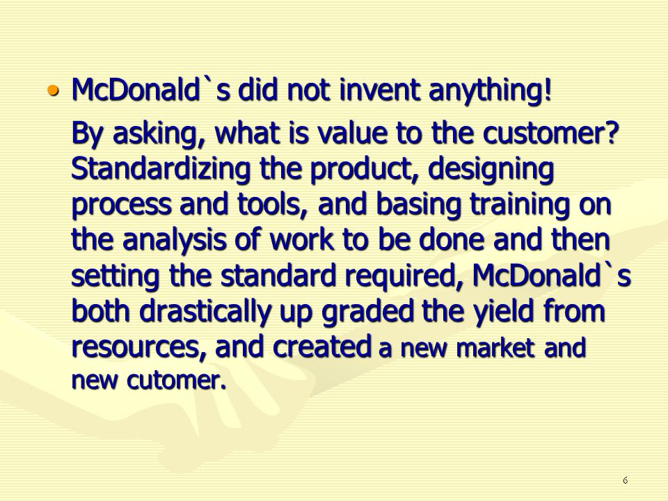 McDonald`s did not invent anything!